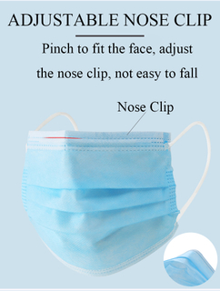 CE Approved Reusable Nanoporous Blue Non-Woven Face Mask