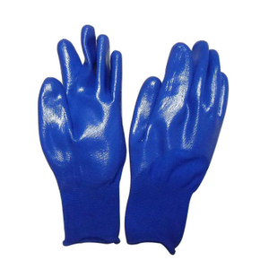 Half Coated Nitrile Blue Gloves Child Garden Labor Gloves