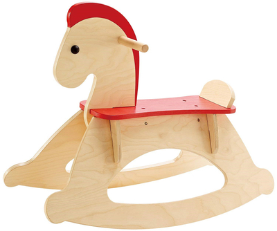 Kids Wooden Rocking Horse Educational Toy